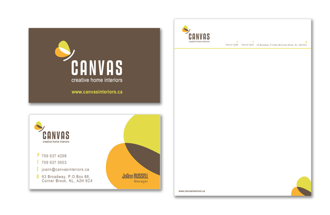 canvas interiors newfoundland website design yield communications